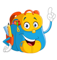cartoon backpack vector image
