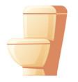 cartoon ceramic toilet bowl vector image
