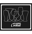 classic cocktail vector image vector image