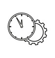 clock with cogwheel icon vector image