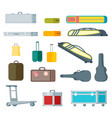 colorful baggage collection vector image vector image