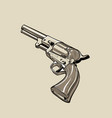 colt model 1848 dragoon revolver digital sketch vector image