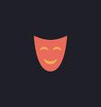 comedy mask computer symbol vector image