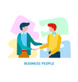 concept business people come to business vector image
