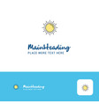 creative sun logo design flat color logo place vector image