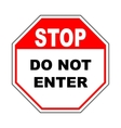 Do not enter sign with text Prohibition concept vector image