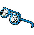doodle hypnotizing glasses vector image vector image