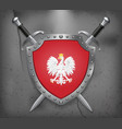 eagle with a crown the national emblem of poland vector image