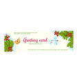 floral greeting card template for flower shops or vector image vector image