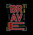 freedom be brave typography t shirt graphic vector image vector image