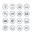 gadgets modern devices electronics line icons vector image vector image