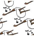 gaida bulgarian musical instrument seamless vector image
