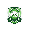 gas mask color vector image