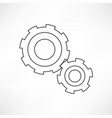 gears isolated object technical mechanical vector image