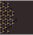 geometry gold header vector image