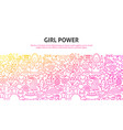 girl power concept vector image vector image