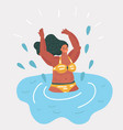 girl swimming in pool vector image vector image