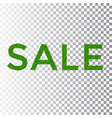 green grass sale text isolated white transparent vector image