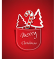 greeting card for Christmas and New Year vector image vector image