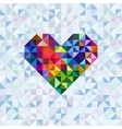 Greeting card with heart symbol vector image vector image