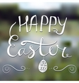 Happy Easter card with blurred background Eps10 vector image