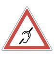 Hearing loss road sign vector image