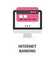 internet banking icon concept vector image vector image