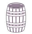 isolated beer barrel design vector image vector image