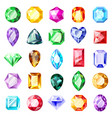 jewel gemstones jewelry crystal gems diamond vector image
