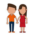 loving couple cartoon vector image vector image