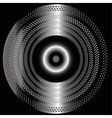 Metal black background with circle vector image