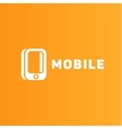 mobile phone of the trend in logo vector image vector image
