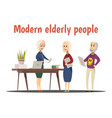 modern elderly people composition vector image vector image
