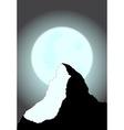 Moonlit Mountain vector image