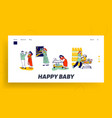 mother and father characters calm down crying vector image vector image