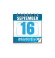 oktoberfest 2017 calendar with a festive date vector image