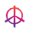 peace sign on white vector image vector image