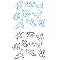 Pigeons doves set vector image vector image