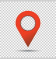 pin icon location sign in flat style isolated on vector image vector image