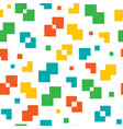 pixel seamless colorful pattern vector image