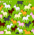 pony pattern vector image