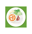 rice noodle vector image vector image