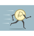 Russian ruble coin running vector image