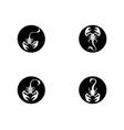 scorpion symbol icon vector image vector image