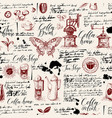 seamless background on the coffee theme vector image vector image