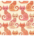 Seamless pattern with beautiful cats vector image vector image