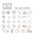 Set of e-commerce linear icons Modern line icons vector image vector image