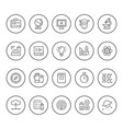 set round line icons of education vector image vector image