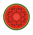 Sliced watermelon flat icon vector image vector image