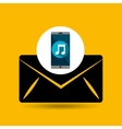 smartphone music online email vector image vector image